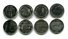 ARGENTINA 4X2 PESOS 1999-2010 KM128,144, 161, 162 UNC COIN SET COMMEMORATIVE