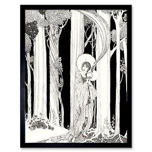Painting Portrait Drawing Deco Forest Sketch Illustration 12X16 Framed Art Print