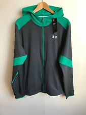 Under Armour UA Men's Storm Running Hoodie Jacket - Large - Grey/Green - New