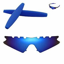 WL Polarized Ice Blue Vented Replacement+Blue Earsocks for Oakley M Frame Sweep