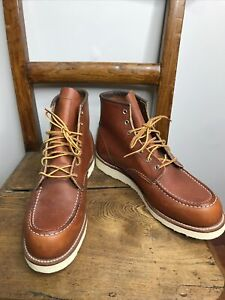 """Red Wing Heritage Classic 6"""" Moc-Toe Work Boot #875 Made in USA Size 12"""