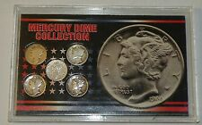 SSCA SILVER MERCURY DIME Collection US MINTED COIN SET OF 5 In Plastic Vault