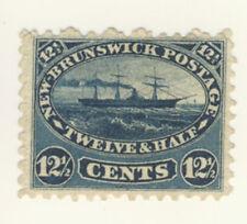 New Brunswick Stamp Scott # 10 12.5-Cents Steamship MNG