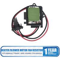Renault Trafic Opel Vivaro Heater/Blower Motor Fan Resistor 7701050325 UK #