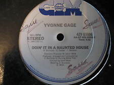 "YVONNE GAGE-DOIN' IT IN A HAUNTED HOUSE. 12"" VINYL SINGLE. FUNKY DISCO. EX"