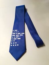 Morse Code Necktie, Super Cool and Unique, Blue ( I Can Write Whatever You Want)