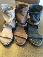 NEW A.S.98 37 6.5-7 SANDAL SHOE LEATHER FREE PEOPLE 3 COLORS TO CHOOSE FROM