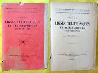J. MAILLEY. Cours de lignes téléphoniques et télégraphiques souterraines 1935.