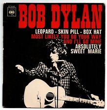 BOB DYLAN. EP 45T. CBS EP 6345 . ORIGINAL FRANCE. LEOPARD-SKIN PILL-BOX HAT