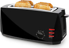 4 Slice Wide Long Slot Toaster for Bagel,Cool Touch,6 Shade Settings,Crumb Tray photo