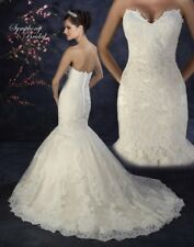 Symphony Bridal Wedding Gown w/ Lace Jacket-Champagne & Ivory-Size 14-WOW