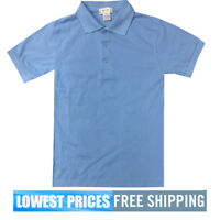 BasicLine / Best School Boys NWT Lt Blue Pique Polo Shirt School Uniform $9.99