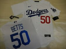 "0803 NIKE Los Angeles Dodgers MOOKIE BETTS ""REAL"" 2020 Baseball JERSEY LARGE"