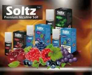 5 X 10ML Soltz Nic SALT E Liquid Vape Juice Vape Juice 50VG/PG Pod Salts