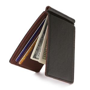 Men's Wallet Pocket Bifold Purse Clutch ID Credit Card Billfold Money Clip