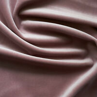 Solid Drapery/Upholstery Soft Velvet Fabric Color Mauve by The Yard