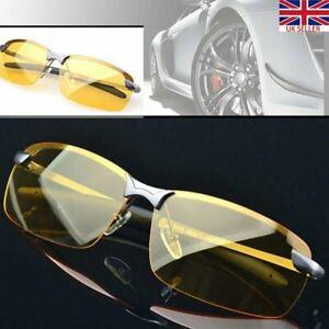 HD Night Driving Glasses Polarized Yellow Lens Anti Glare Vision  Tinted Unisex