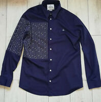 """Vivienne Westwood """"58"""" Mens XL Stretch Navy Fitted Shirt Trikot Long Sleeve"""