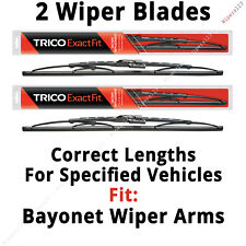 "2 Front Wiper Blades (17"" x 2 w/Bayonet Attachment) Fit Listed Vehicles 17-3  x2"