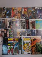 Huge Lot Of 35 Comics Vintage And Modern Various Brands And Genres