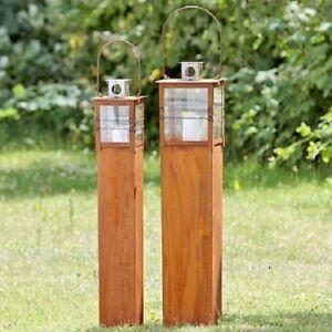 Laterne 2er Set  Ancona 2tlg. Metall rost Gartenlaterne Gartendeko Garten