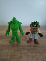 imaginext dc batman, batman and swamp thing figures