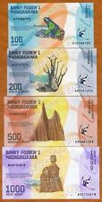 LOT SET SERIE 4 BILLETS MADAGASCAR ARIARY 1000 500 200 100 2017 NOUVEAU NEUF UNC