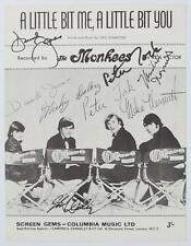 "THE MONKEES Signed Autograph ""A Little Bit Me"" Sheet Music by 4 Davy, Peter Tork"