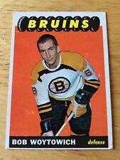Topps Hockey 1965-66 Bob Woytowich  Boston Bruins card # 100