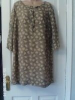 BEIGE AND BLACK size 16 DRESS BY RIVER ISLAND