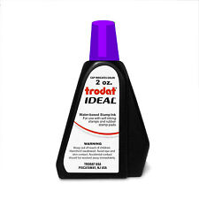2 oz!!! PURPLE Trodat / Ideal Rubber Stamp Refill Ink (for stamps & stamp pads)