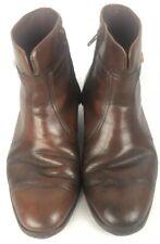 Vintage Florsheim Beatle Mens Sz 9.5 Leather Side Zip Riding Casual Ankle Boots
