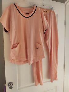 Scrub Set XL Top Bottoms Grey's Anatomy Pink
