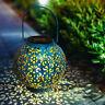 Solar Garten Laterne Kugel Lichter LED Outdoor Dekorative Wasserdichte Hohle DE