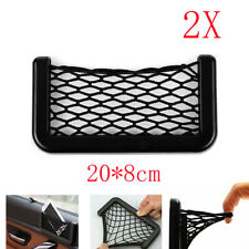 2X Car Storage Pocket elastic Cigarette Wallet Phone Holder Organiser Bag Net