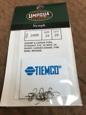 Umpqua Tiemco Fly Fishing Hooks Model 2488 Size 24 Quantity 25