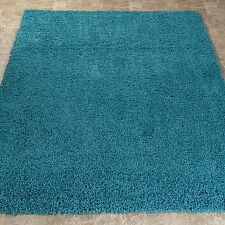 Turquoise Kid Bed Room Area Rug 5x7ft Contemporary Soft Shaggy Children Carpet