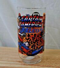 Captain America & Falcon 7-Eleven Promo Drinking Glass-Vintage 1977 Marvel