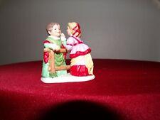 lefton colonial village figurines:Sandy & Ellen 01346