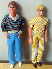 Vintage Rare 1968 Ken Dolls 1 w/Movable hands and Bendable Joints/ extra clothes
