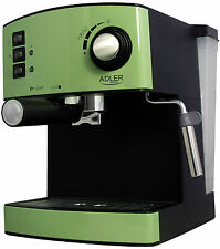 Espresso Automat Maschine Edelstahl 15bar Espressomaschine Cappuccino Grün, NEU