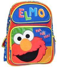 """Sesame Street Elmo 16"""" School Travel Backpack 05456, New"""