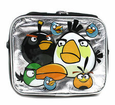 Angry Birds Blak Blue Yellow Birds Boy's Insulated School Lunch Bag Box
