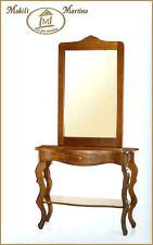 Consolle e specchiera in arte povera specchio ingresso classico 259-260