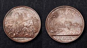 PRISE DE LA BASTILLE 1789 et LE DONJON DE VINCENNE. 1844. Cuivre ORIGINAL