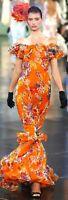 Ralph Lauren Collection Purple Label 2008 Floral Long Maxi Dress Gown US 10