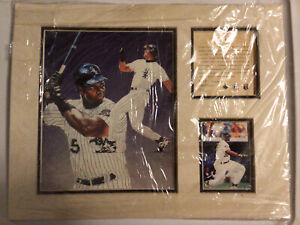1995 Frank Thomas Chicago White Sox Matted Kelly Russell Lithograph Print #3417