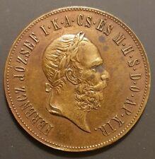 1873 - Ungarn Bronzemedaille, Franz Joseph I. Original, Gewicht 16,6 Gramm