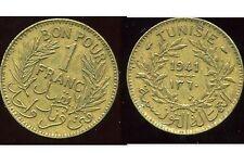 TUNISIE TUNISIA 1 franc 1941  ( ca )