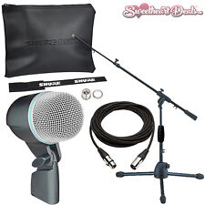 Shure Beta 52A - Supercardioid Dynamic Kick Drum & Bass Microphone Bundle